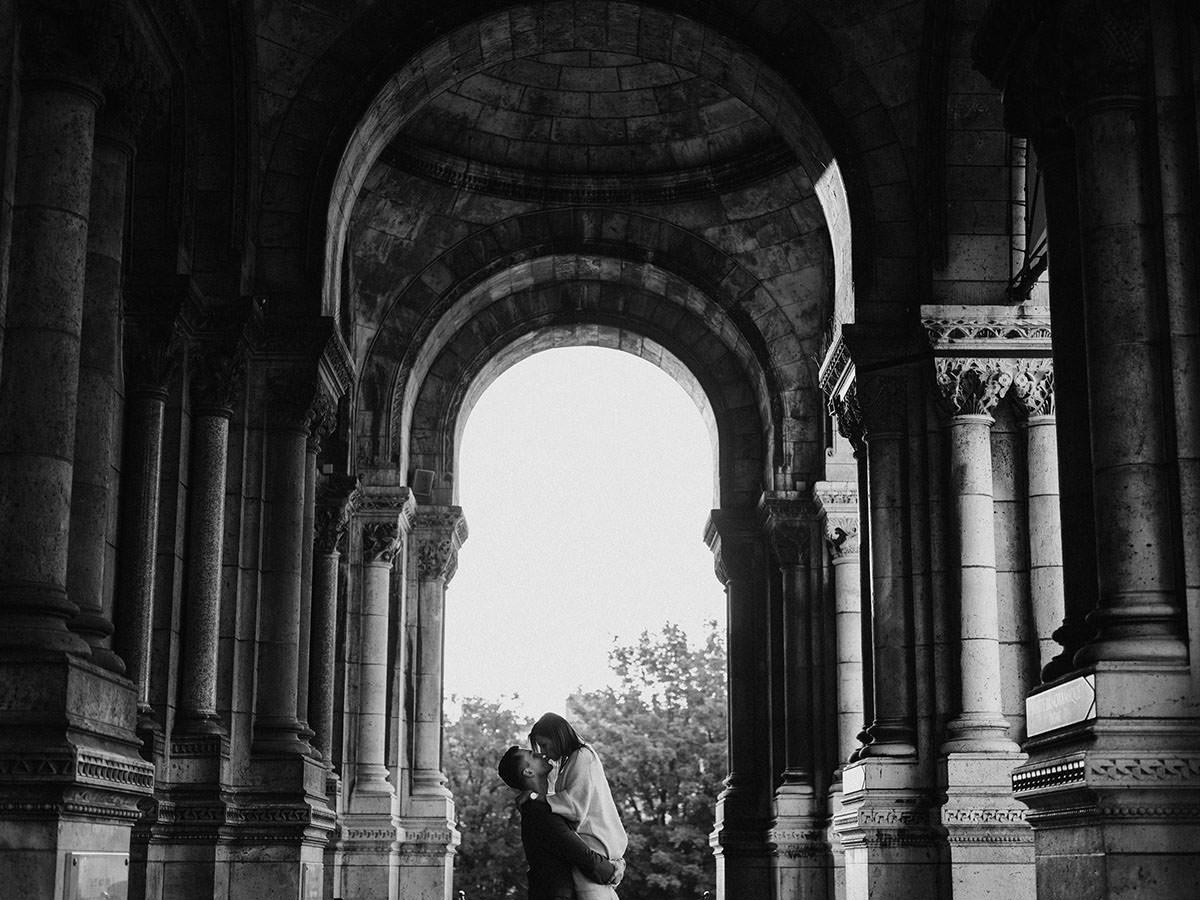 BW Engagement Photography Paris 007