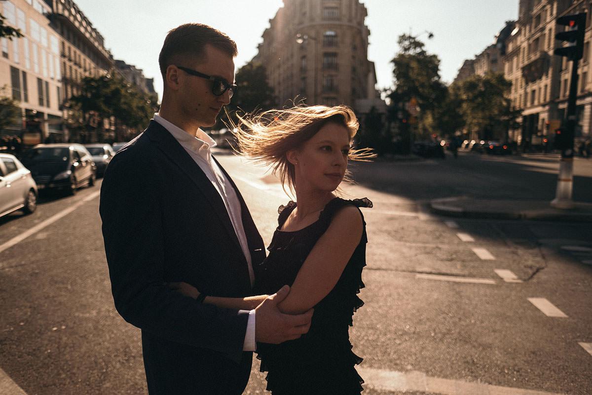 BW Engagement Photography Paris 014