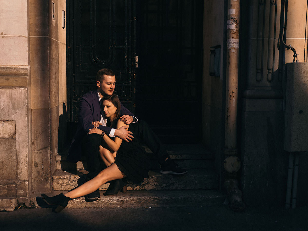 BW Engagement Photography Paris 015