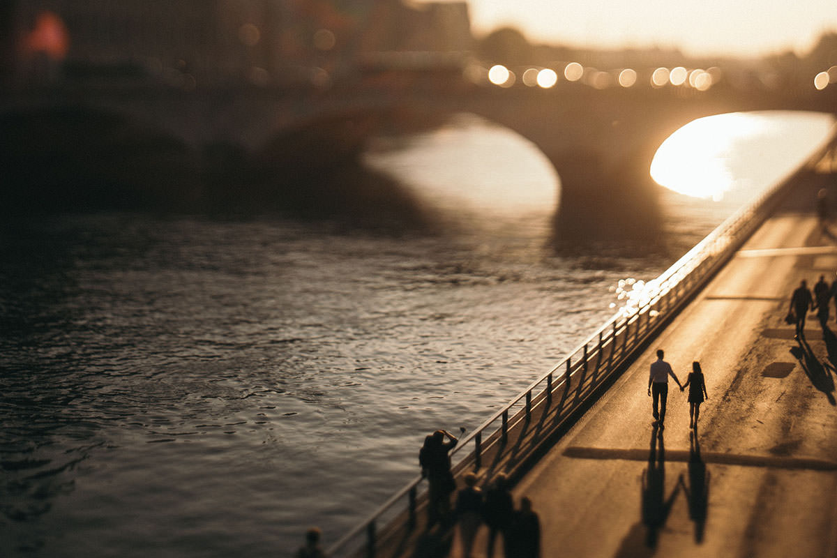 BW Engagement Photography Paris 016