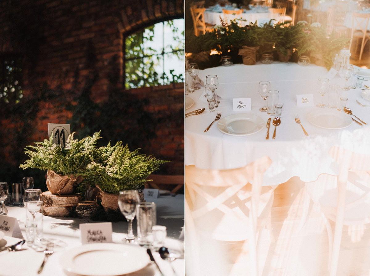 Cicha 23 - dekoracje stołów weselnych