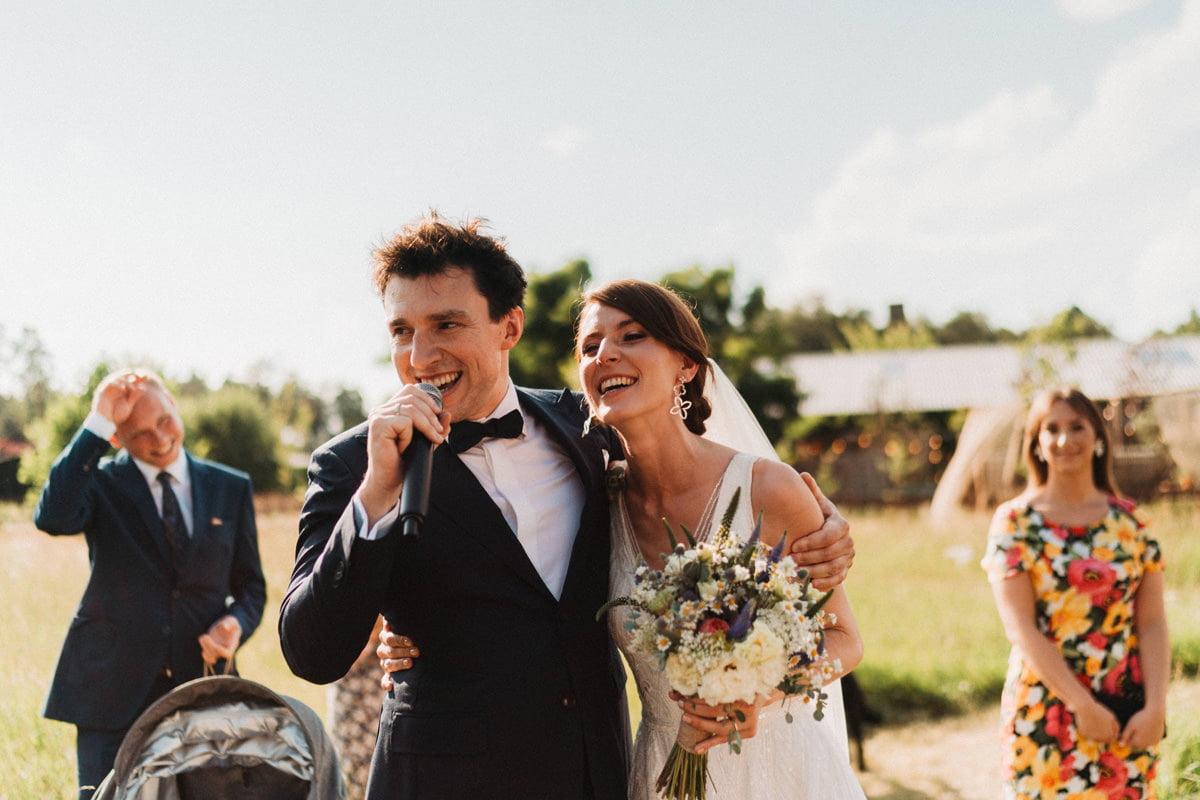 Cicha 23 - Nowożeńcy przemawiają